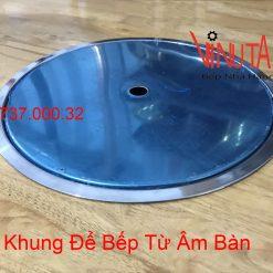 khung để bếp từ tròn âm bàn
