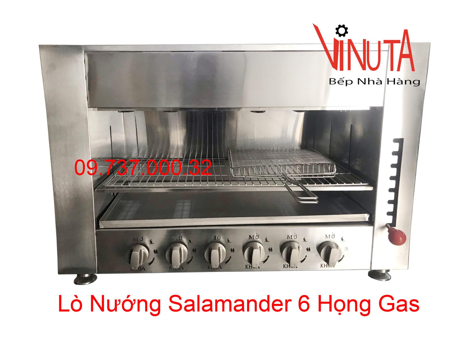 lò nướng salamander 6 họng gas | bếp nướng thịt bằng gas nhà hàng