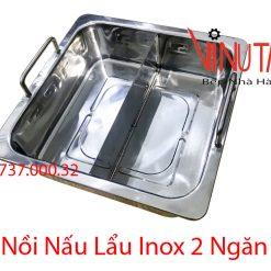 nồi nấu lẩu inox 2 ngăn