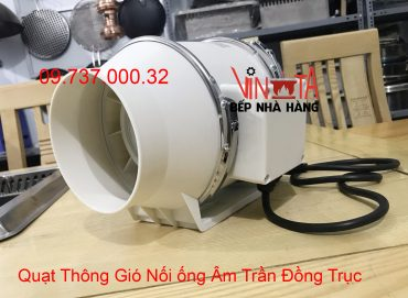 quạt thông gió nối ống âm trần đồng trục