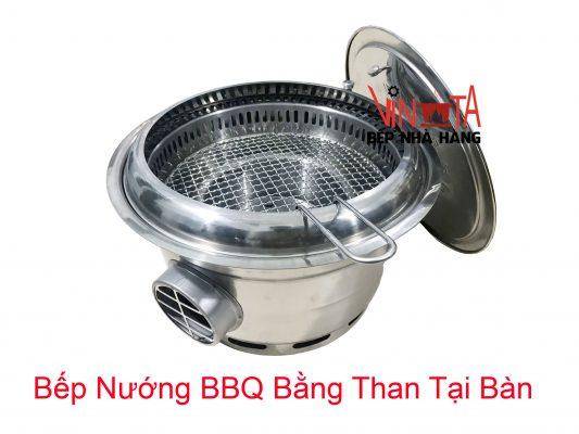 bếp nướng bbq bằng than tại bàn