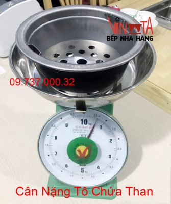 cân nặng tô chứa than