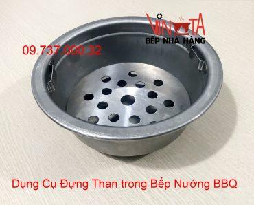 dụng cụ đựng than trong bếp nướng bbq