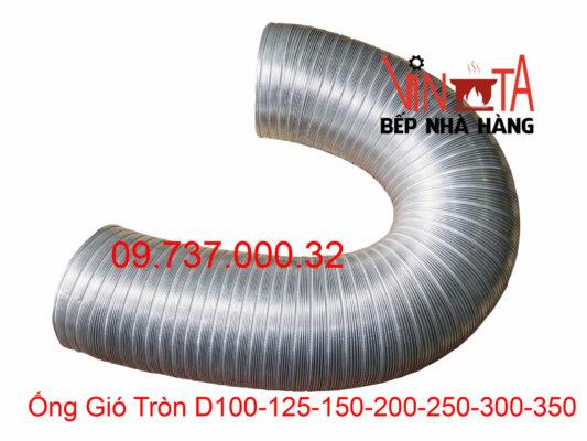 ống gió tròn d100 - 125 - 200 - 250 - 300 - 350