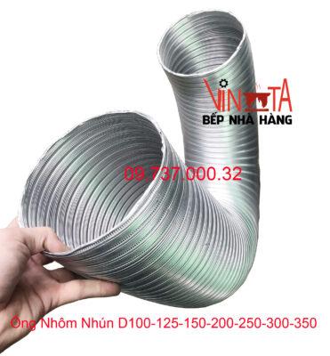 ống nhôm nhún d100 - 125 - 150 - 200 - 250 - 300 - 350